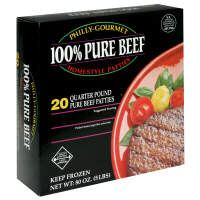 100% Pure Beef Quarter Pound Homestyle Patties